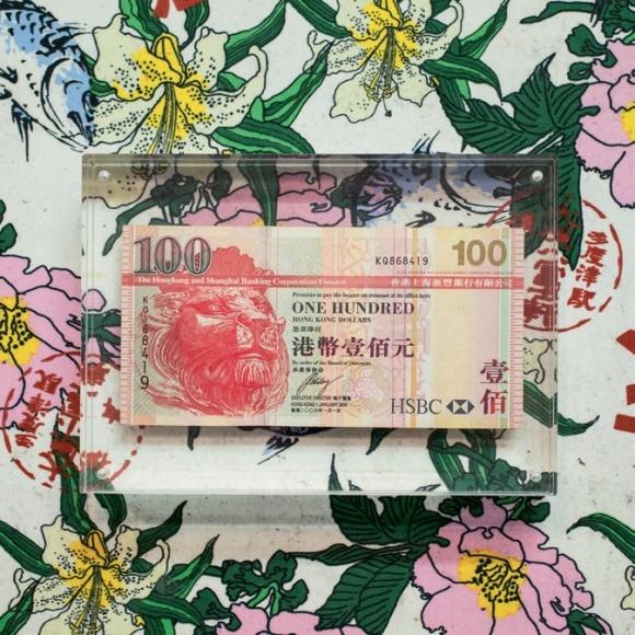 第一個客人給的第一筆收入,鑲起來讓自己一直惦記這份興奮。