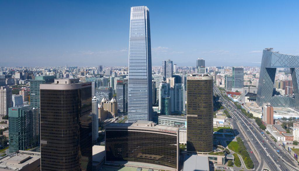 Brian Lee設計的北京最高摩天大樓中國國際貿易中心。