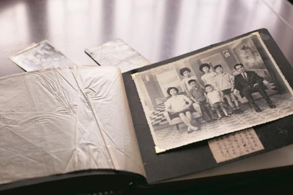 七姑母一家七口的家庭照,攝於越南西貢。