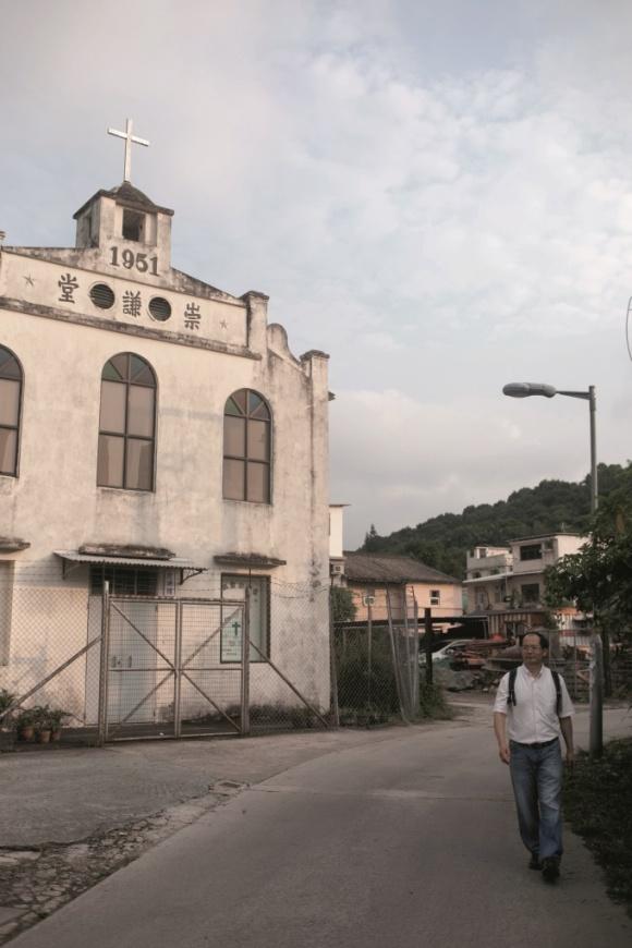 崇謙堂建於1926 年,陳雲小時候經常來,聽客家講道。