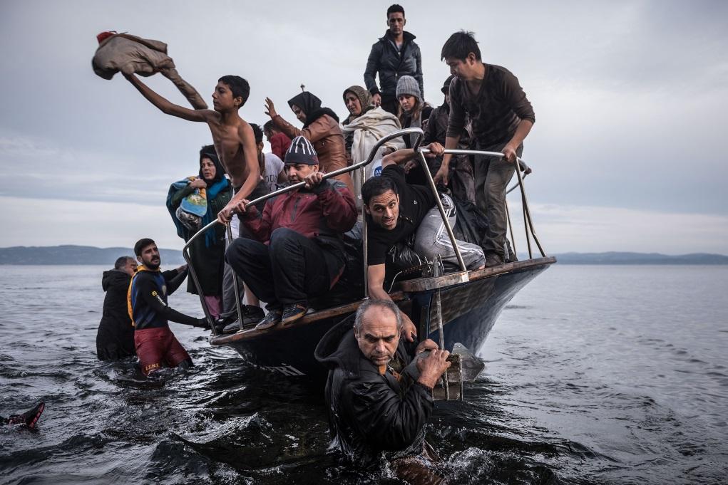 Sergey Ponomarev拍攝歐洲難民潮的得獎作品