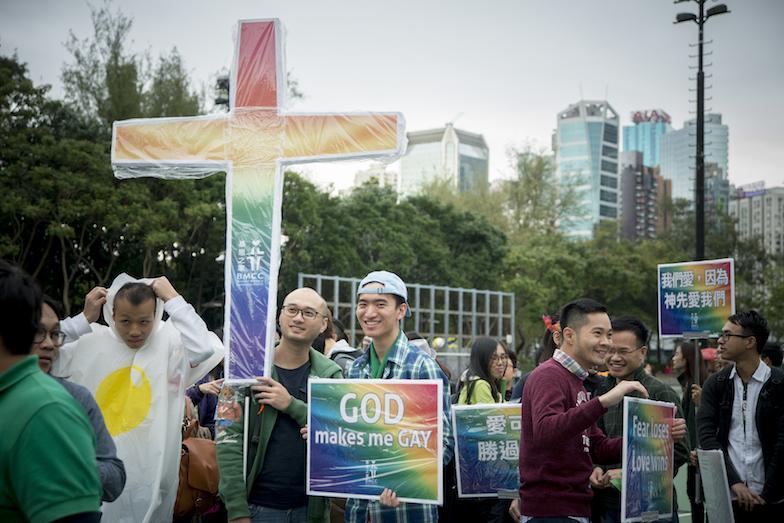 保守的宗教團體一直是推動同志平權的一大阻力,不過香港近年也有不少同志友善的教會及基督徒挺身支持同志,包括基恩之家、性神學社等。