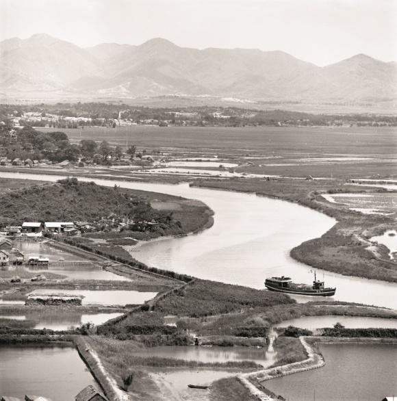 深港邊境蜿蜒流淌的深圳河(政府新聞處圖片)