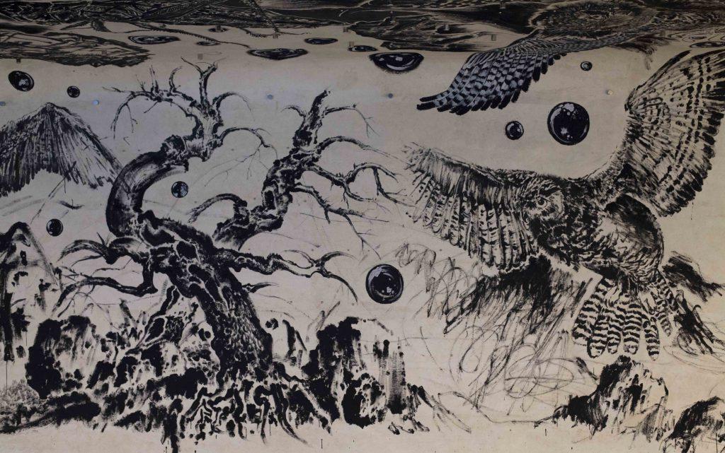 孫遜擅長以手繪作品製成動畫,以多媒體呈現。