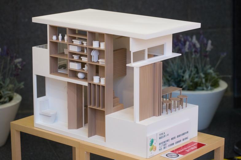 築青亭另外設計了一款前舖後居的單位,適合有意開店的年輕人。