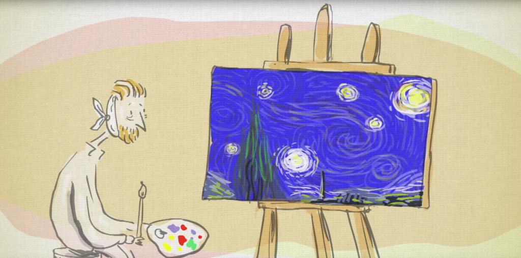 TED曾製作一條講解「星夜亂流」的動畫影片。