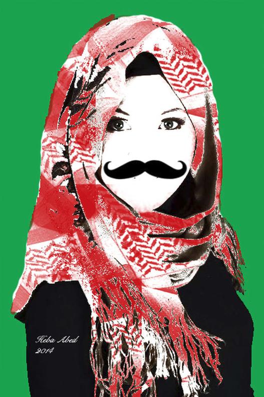Heba其中一系列的作品改變經典畫作,挑戰傳統藝術的規範。