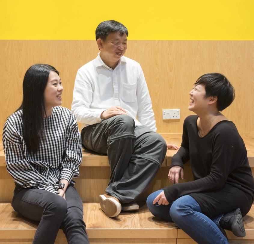(左起)Winky、崇銘和Carmen擁有共同理念,希望透過合作運動,改變消費模式。