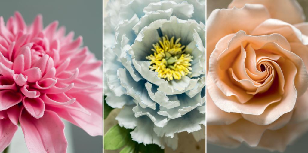 每一朵糖花都是用花瓣一片一片的砌成,要的是細心和耐心。