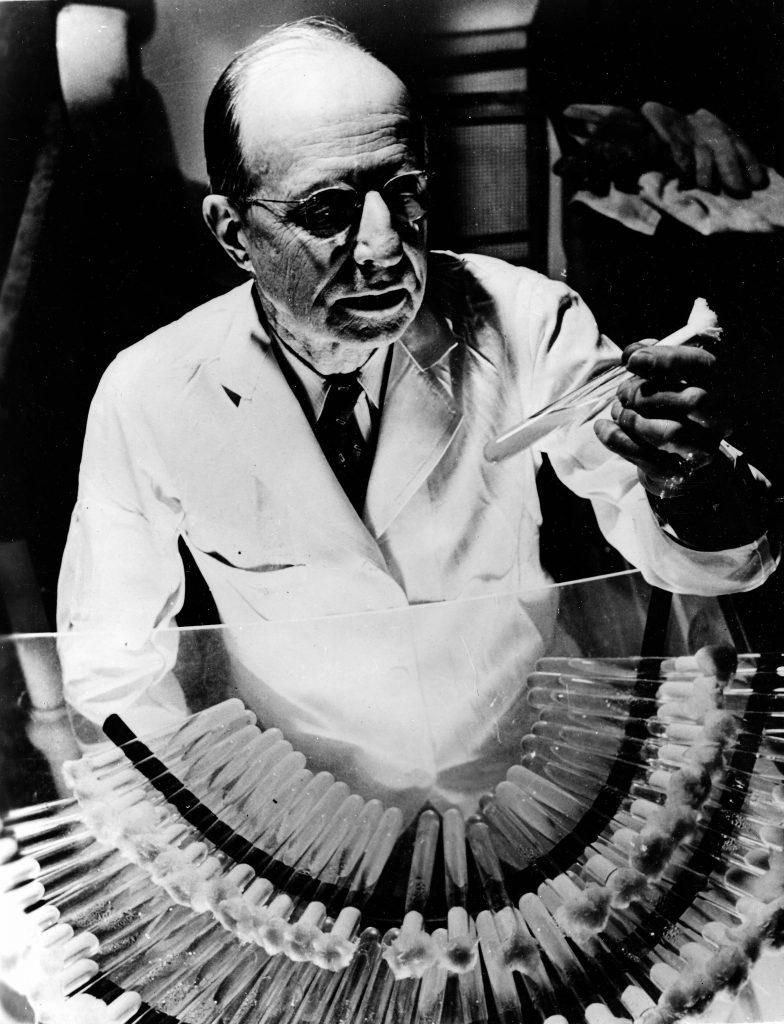 Benjamin M. Duggar, savant américain, découvreur de l'auréomycine (antibiotique) en 1948. BOY-30883
