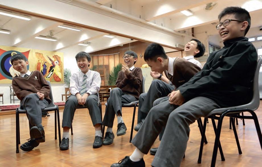 接受過「聯校心靈大使培育」的學生,擁有尋獲快樂的錦囊。