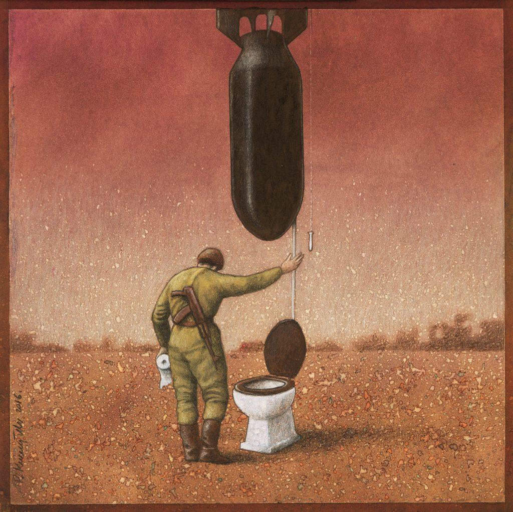 波蘭插畫家 Pawel Kuczynski(生於1976年)以諷刺手法描繪當今社會、政治和文化現況。