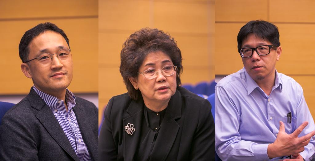 左起:首爾國立大學解剖學助理教授Jae Seung Kang、泰國瑪希敦大學解剖學助理教授Supin Chompoopong、天主教私立輔仁大學基礎醫學助理教授。