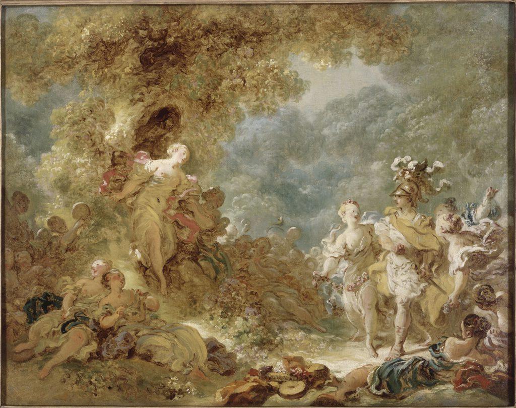 《雷諾多走入魔法森林》,十八世紀洛可可藝術代表作品之一。