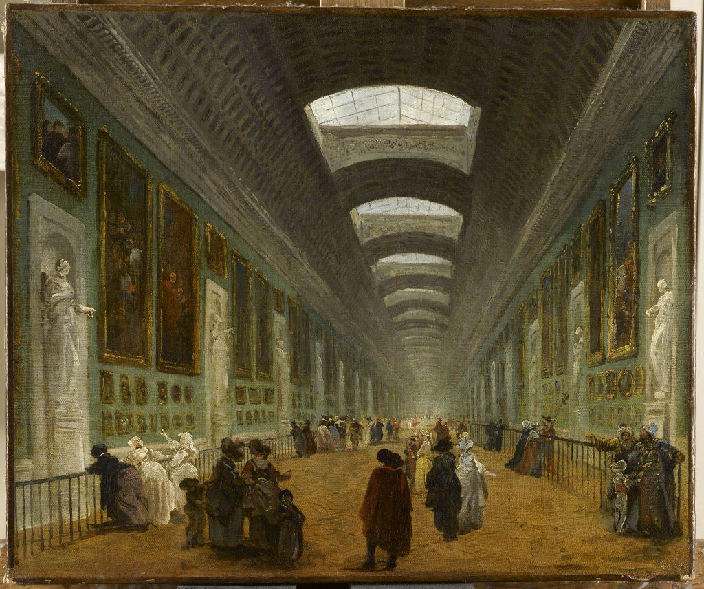 羅浮宮第一代策展人羅伯特筆下的《羅浮宮大畫廊重修建議》,反映十八世紀已有公共美術館之形。