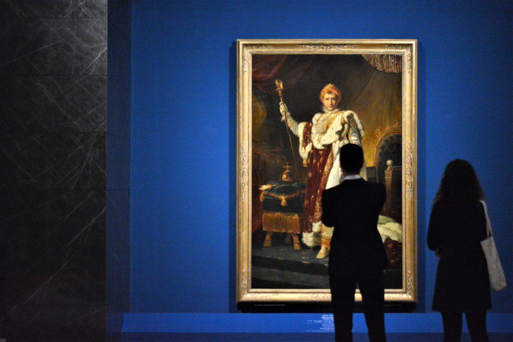 《拿破崙身穿加冕長袍》油畫