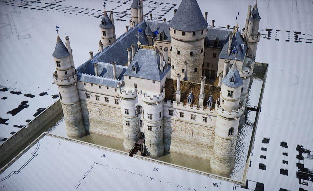 中世紀的羅浮宮呈正方型,和今日的結構大有不同。