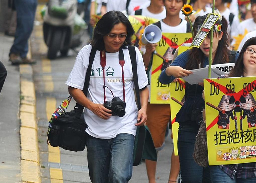 謝昇佑長期關注及參與社會議題(圖片來源︰LE Chun Chang)