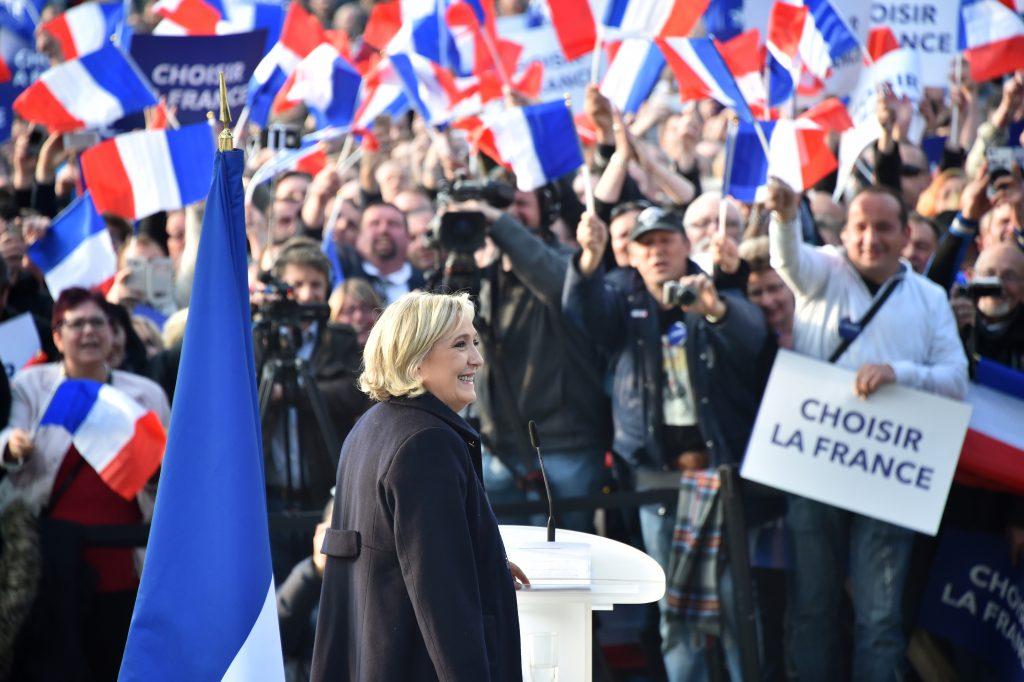 法國極右翼政黨「國民陣線」總統候選人瑪琳·勒龐( AFP PHOTO / Philippe HUGUEN)