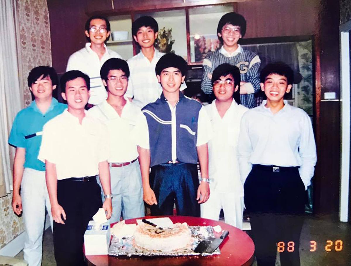 1988年,陳允中在台灣讀大學二年班