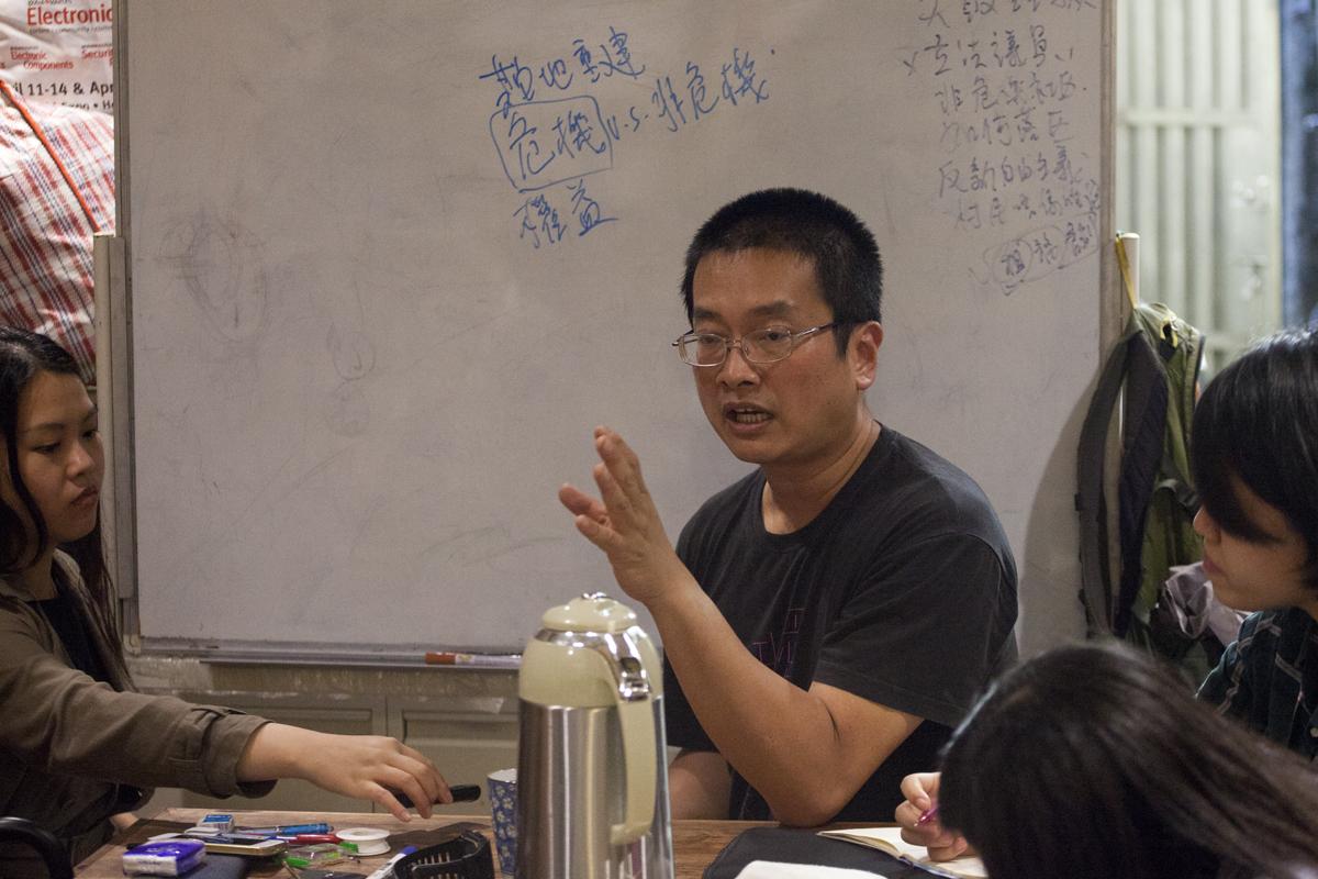 陳允中離開香港前仍在「土家故事館」講社運經驗傳承。
