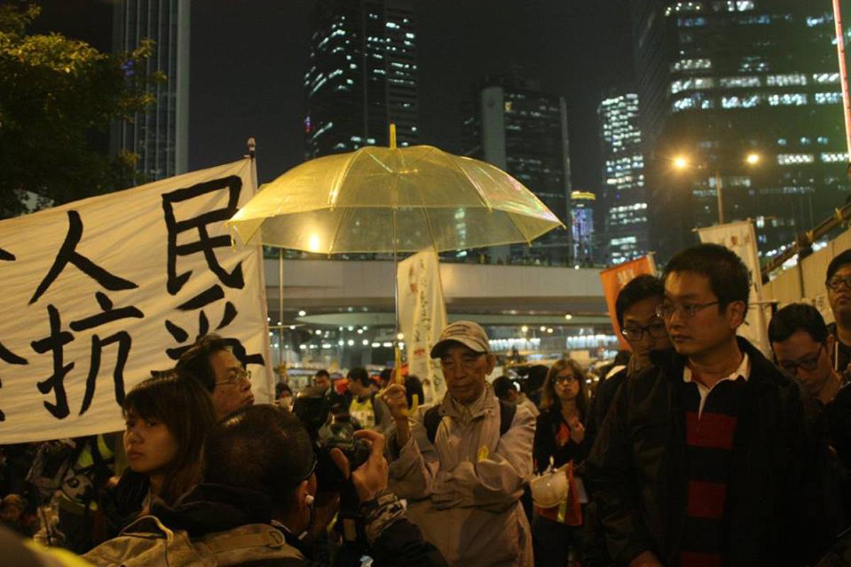 香港近十幾年大大小小的社運,總有陳允中身影(攝︰阿藍)