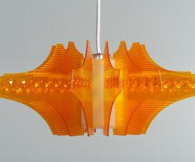 M+都珍藏紅A牌塑膠水晶1616型掛燈