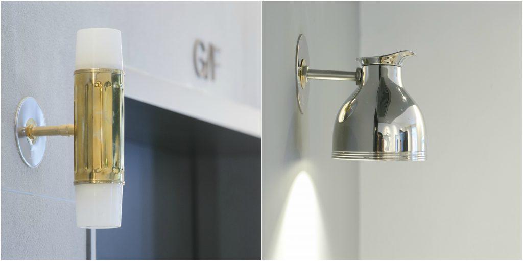 師傅活用五金工藝,無論是酒店大堂還是房間的燈具,都以水壺設計為藍本。
