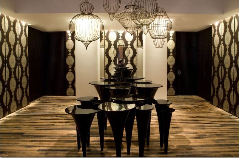 上海Jia Hotel大堂注入了不少現代中國藝術元素