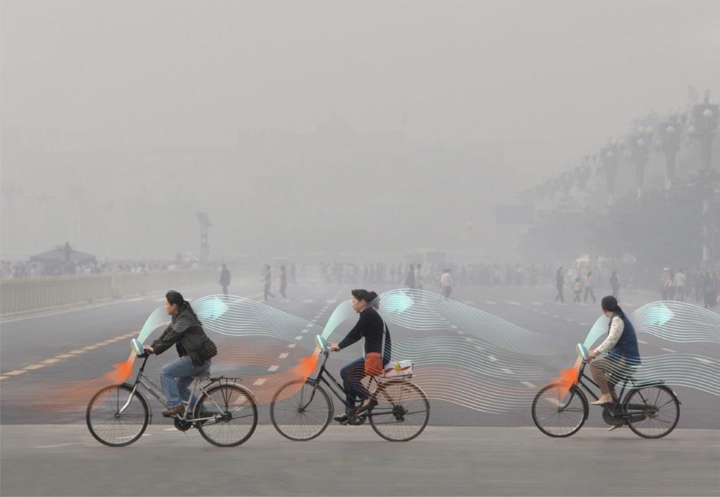 霧霾淨化裝置將會結合共享單車使用,一邊踏單車,一邊過濾空氣,令每位單車用家都能為減少空氣污染出力。