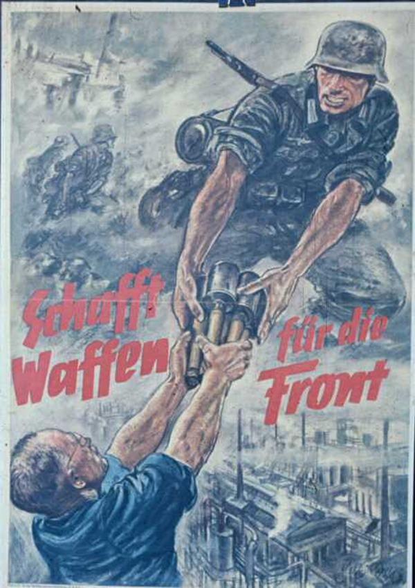 描述德國軍人神勇豪邁,流盡最後一滴血的苦戰英雄形象。