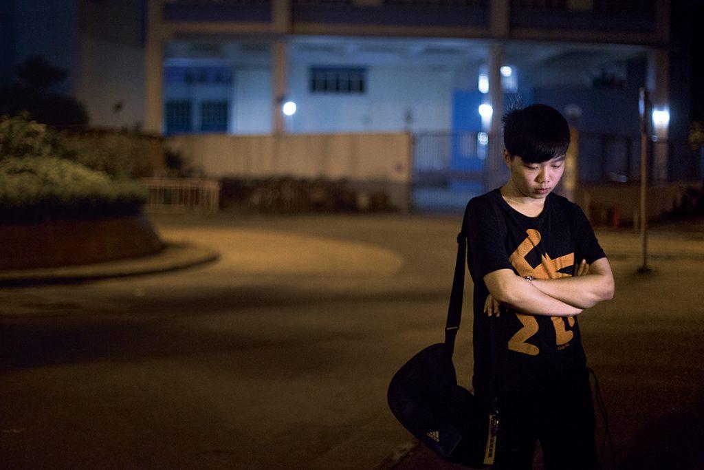 張俊豪兩年前被捕,那時 他只有十四歲,是雨傘運動中最年輕的被捕者。