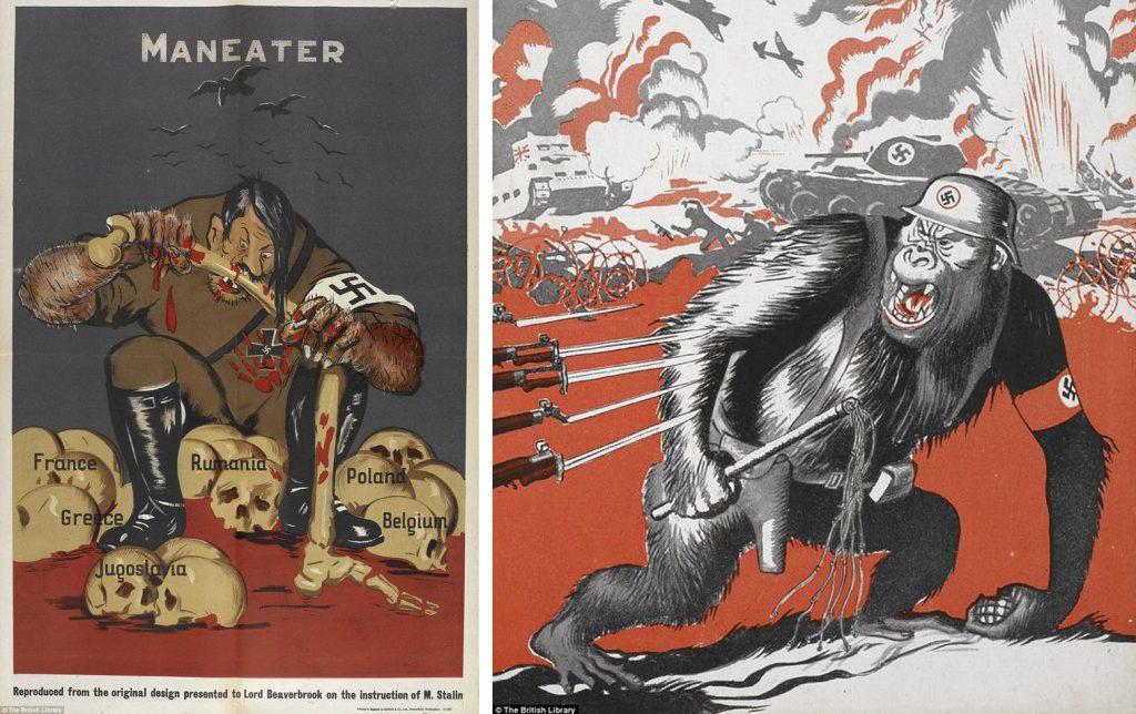海報意指是揭露納粹德國的暴行