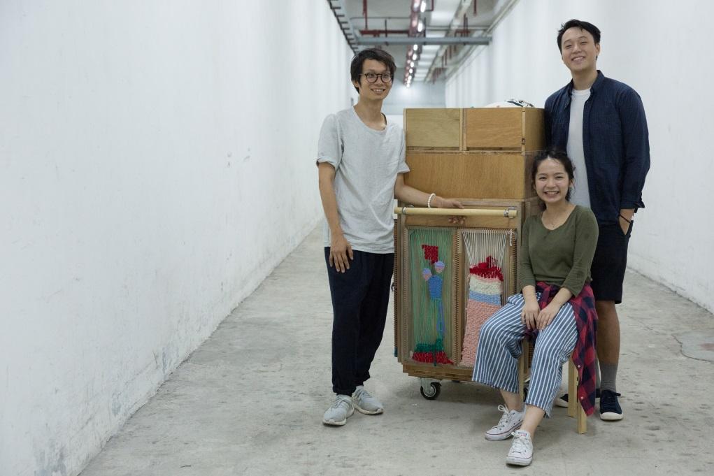 Made in Sample設計師(左起)阿諾、Sam和Terry,首次以設計參與社區活動。