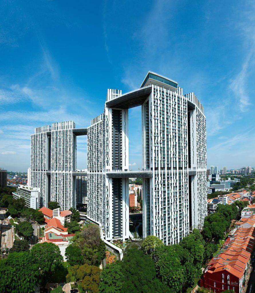 新加坡達士嶺擁有兩條空中花園架空橋,乃全球最長空中花園。