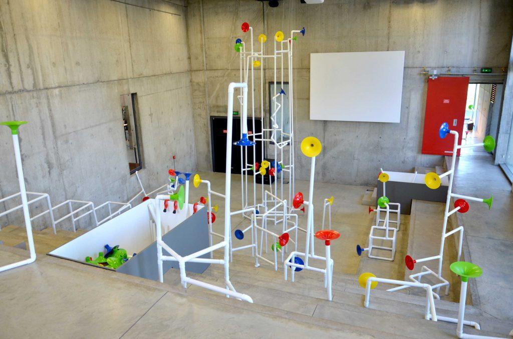 """他曾以互動聲音裝置""""Acoustic Pavilion"""",參與法國聖艾蒂安國際設計雙年展。(攝影:Heather Sterland)"""