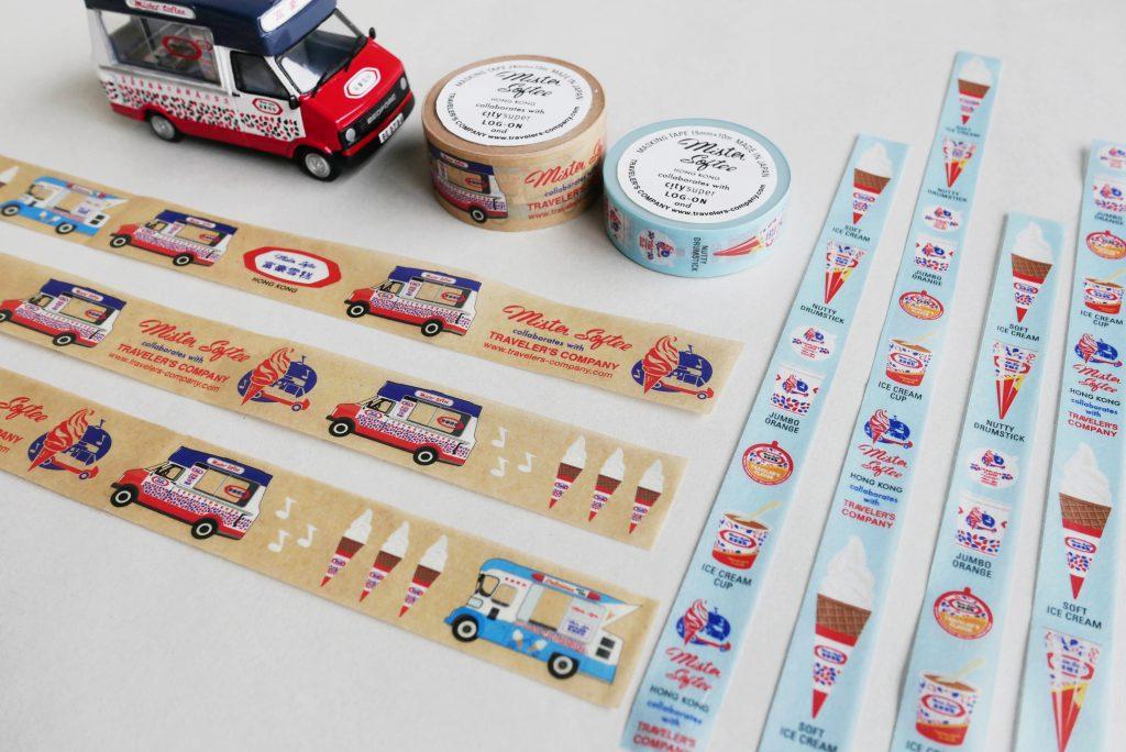 兩款紙膠帶分別以不同雪糕車和雪糕產品為主題,同樣親切可人。(紙膠帶50元起)