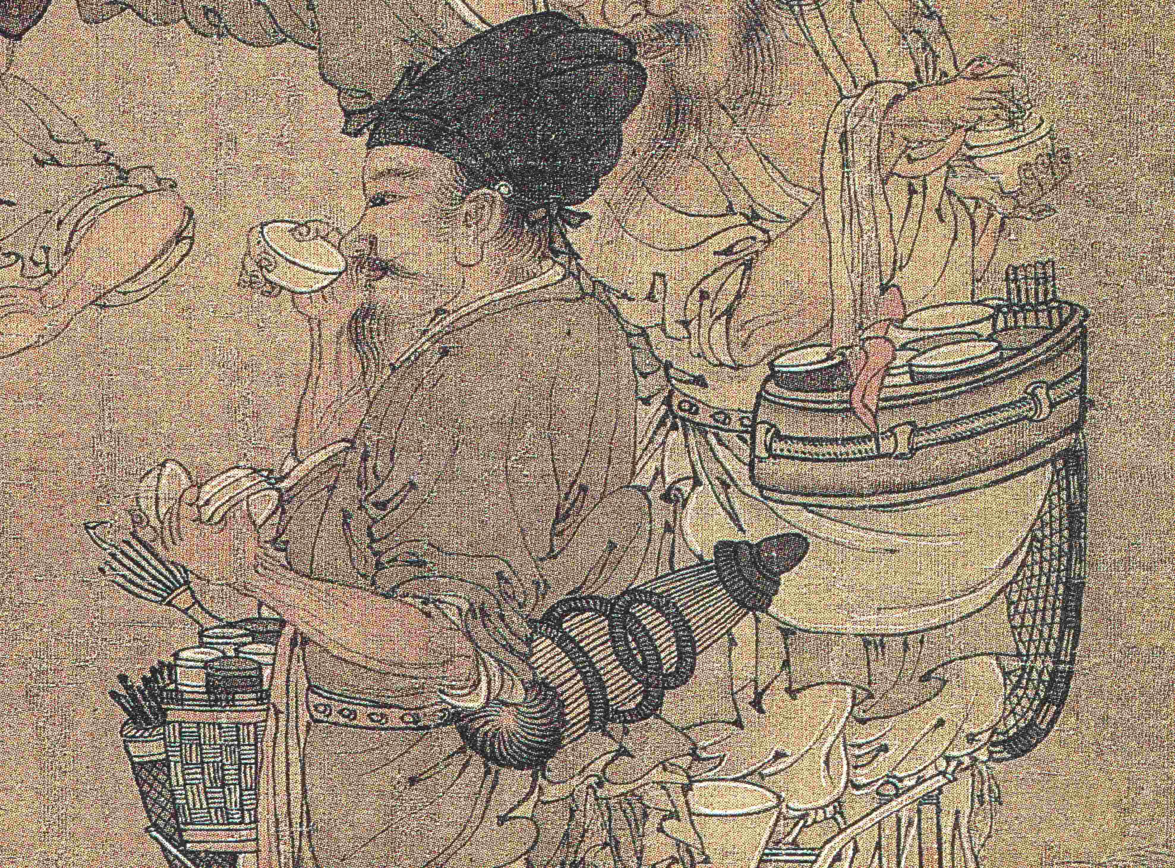 南宋臨安的賣茶人(佚名畫家繪《賣漿圖》局部)