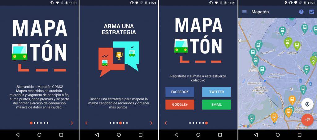 平面設計是推動公民創新的一大工具,既有助信息傳遞,亦能改善公眾對政府的觀感。圖為交通應用程式Mapatón的介面。