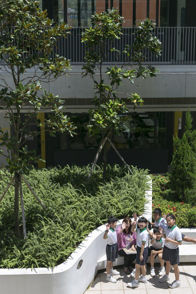 小學設有兩個中庭聖經花園,種植蘆葦、薄荷和石榴等以色列和中東的植物,將學習環境從課室延伸至室外。