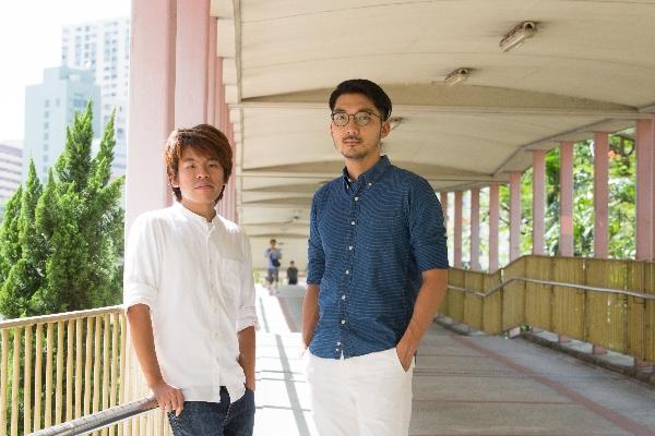 HOUR25 Production共同創辦人,年輕建築師黎永鋒(左)及陳堯坤(右)。