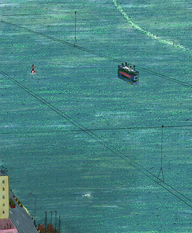 認真畫的系列帶有時事隱喻,帶著憂鬱的氣氛。