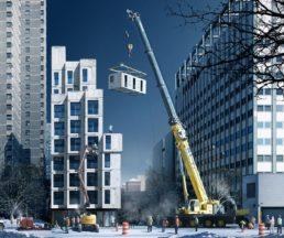 2015年在紐約落成的「貨櫃屋」兼顧功能與美感。