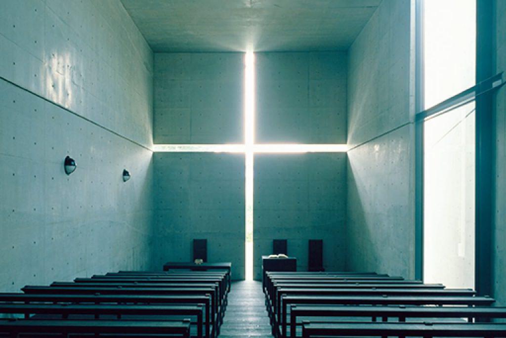 1989年竣工的光之教堂《茨木市春日丘教會》,將原個複製展出。