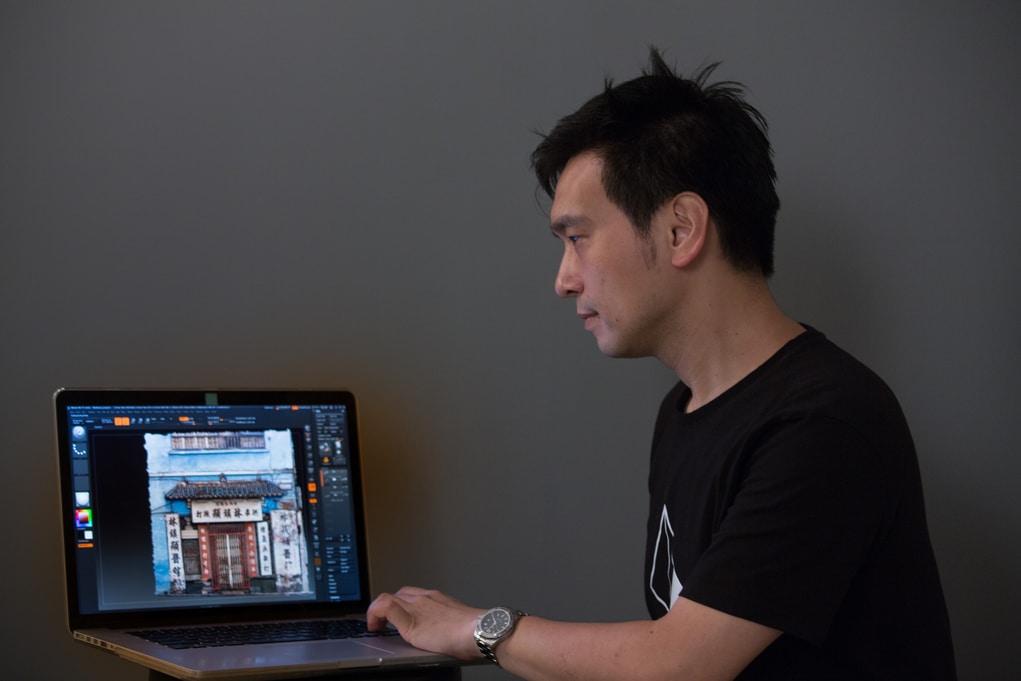 Patrick研究3D攝影技術多年,其團隊為建築拍攝過千張照片後,電腦便會自動把影像組合,變成立體圖。