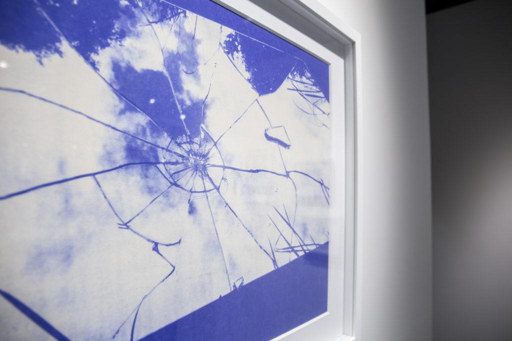 藍曬過程令每張相紙都受到不同程度的曝光,即使化學品的劑量相同,相片出來後仍會有不同的顏色。