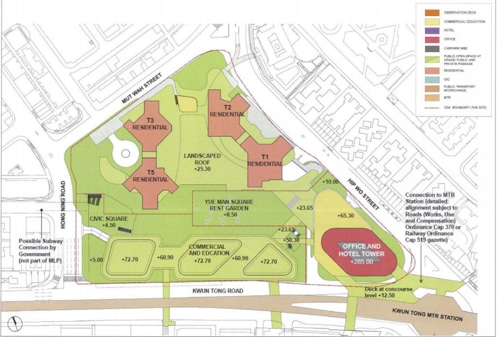 新設計:2017年6月底新提交的規劃藍圖,流線形商場已變成四邊形設計。
