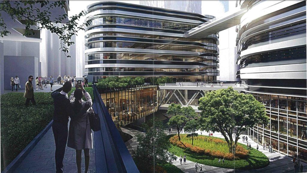 新設計:裕民坊廣場沒有瀑布。