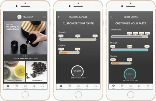 泡茶機可配合品牌推出的手機智能軟件一併使用。用戶可以按照個人喜好調校水溫、時間、力度和分量等個人偏好設定,以確保每泡茶的質量一致不參差。