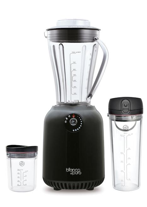 Bianco di puro出產的Vase Nutrition Blender攪拌機,內置智能電源管理系統,能高速攪拌而且省電,可以攪拌蔬果汁,也可以磨研咖啡豆,攪拌杯完成攪拌程序後,可直接反轉帶出街飲用。